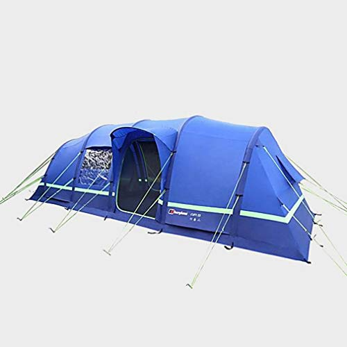 Berghaus Air 8 Inflatable Tunnel Design 8 Person Family Tent, Blue, One Size