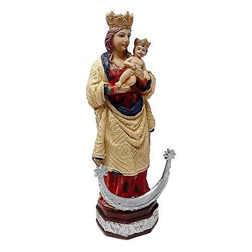Inmaculada Romero IR Figura Virgen De La Almudena Adorno 15Cm. Resina Peana Decoración
