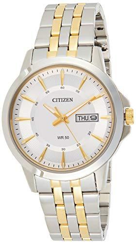 CITIZEN Herren Analog Quarz Uhr mit Edelstahl Armband BF2018-52AE