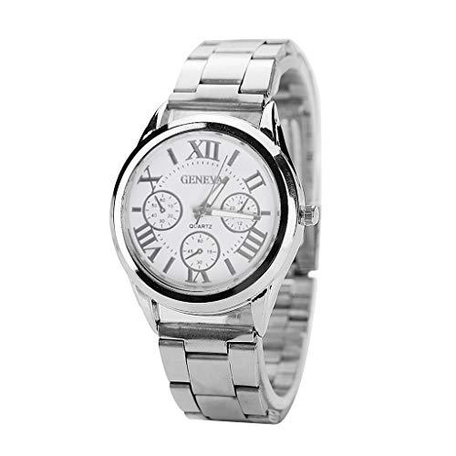 Shaoyanger Luxury Geneva - Reloj de Pulsera analógico de Cuarzo para Mujer (Acero Inoxidable)