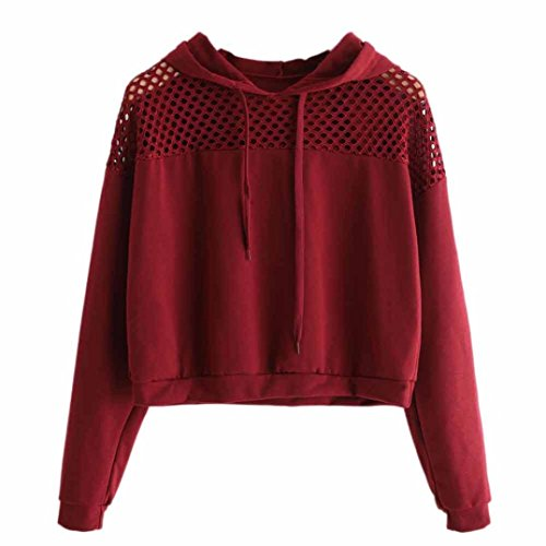 Best Prices! Lowprofile Women's Loose Long Sleeve Cotton Short Crop Top Sweatshirt Hoodie T-Shirt Te...