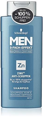 HOMBRES champú Schwarzkopf zinc anticaspa, 250 ml