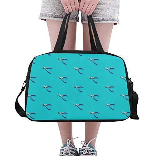 LMFshop Nette Einkaufstasche Nette Cartoon Mode Zangen Werkzeuge Yoga Gym Totes Fitness Handtaschen Seesäcke Schuhtasche Für Sportgepäck Damen Outdoor-Gepäcktasche