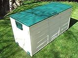 groundlevel.co.uk Weatherproof easy move XL garden storage box  Green Lid