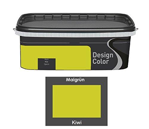 Design Color 2,5 L. farbige Innenfarbe, Wandfarbe Kiwi, Grün, Matt
