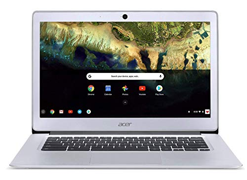 Acer Chromebook 14 CB3-431-C99D, Intel Celeron N3060, 14' HD Display, 4GB LPDDR3, 16GB eMMC, Metal Chassis, Sparkly Silver, Google Chrome (Renewed)