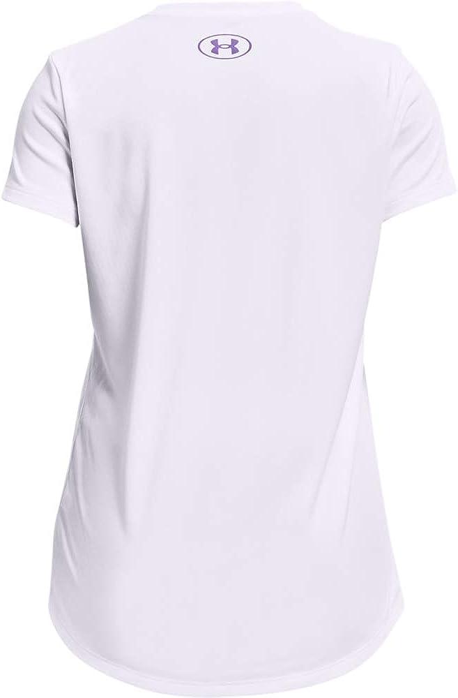 Under Armour Girls Tech Graphic Big Logo Short-Sleeve T-Shirt