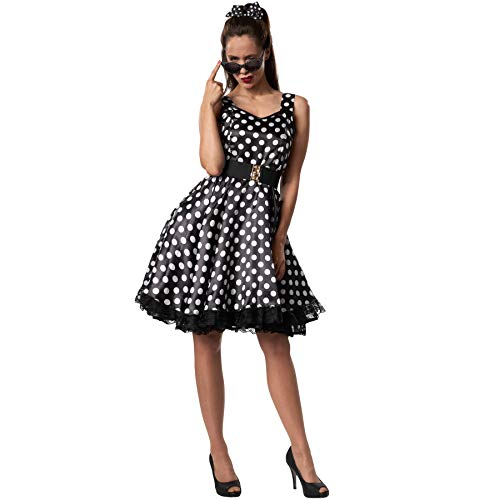 dressforfun 900379 - Damenkostüm Rockabilly Lady, Attraktives Trägerkleid im Stil der 50er Jahre (M | Nr. 302156)