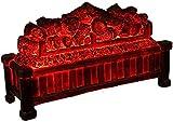 FFYN Chimeneas Embebido Ornamental Eléctrico Núcleo de Carbón Desnudo Efecto de Llama Dinámico 3D Diseño de Estufa Tradicional 565X19X33CM