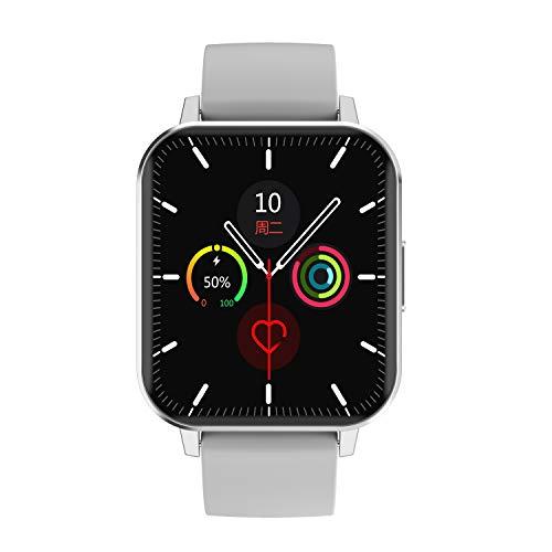 Aliwisdom - Reloj Inteligente para Hombres Mujeres y niños, Pantalla HD de 1,78 Pulgadas Monitores de Actividad para Android y iOS, con Monitor de Salud Función de recordatorio Inteligente (Plata)