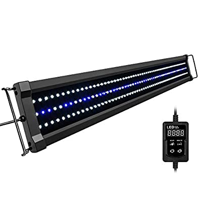 NICREW ClassicLED Gen 2 Aquarium Light, Dimmable LED Fish Tank Light with White and Blue LEDs, High Output, Dual-Channel Timer Included, 36-48 Inches, 32 Watts