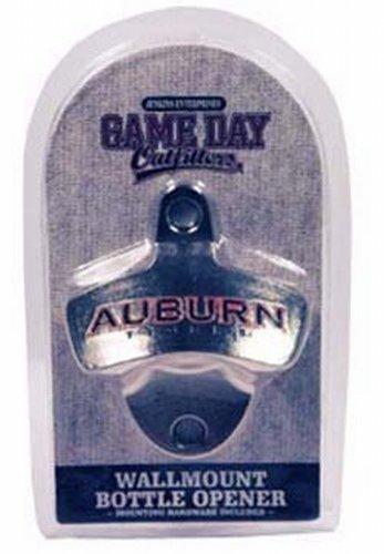 NCAA Auburn Tigers Bottle Opener Metal Retro Wall Mount, Small, Metallic with Team Color