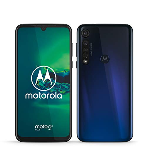 moto g8 plus Dual-SIM Smartphone (6,3 Zoll-Max vision-Display, 48-MP-Quad-Pixel-Triple-Kamera, 64 GB/4 GB, Android 9.0) Blau