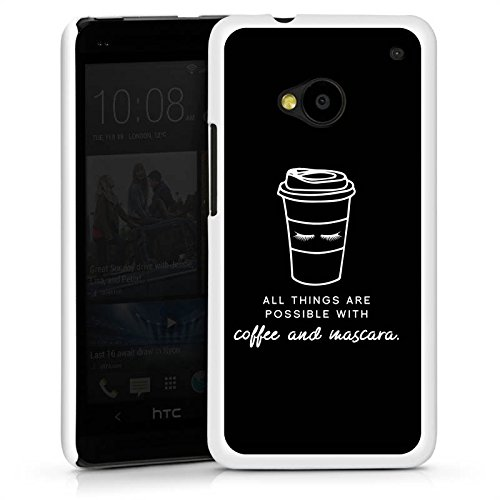 DeinDesign HTC One M7 Hülle Case Handyhülle Mascara Kaffee Spruch