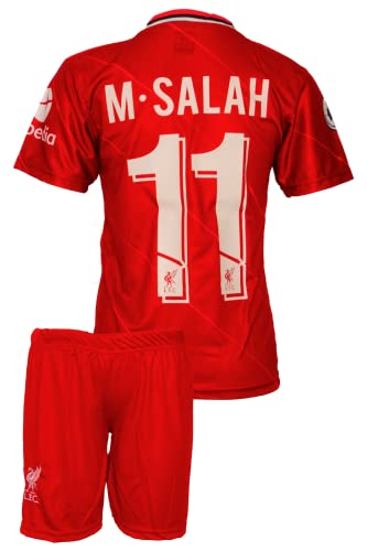 IHIMI Liverpool Mohamed Salah Kinder Trikot #11, 2021/2022 Saison, Heim, Komm mit Shorts Fußballfans (10-11 Jahre,164)