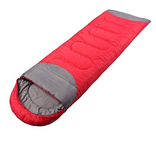 Yy.f Sac De Couchage Pour Camping Camping Peut être Cousu Avec Chapeau Pause Déjeuner à L'intérieur Sac De Couchage Multicolore,Red-220*75cm