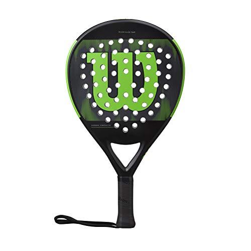 Wilson Blade Team WR033111U2 - Pala de Pádel, Fibra de Vídrio y EVA, 370g, Negro y Verde
