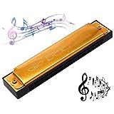 Armonica a Bocca,Guador 1 Pezzi Strumento D'organo Adulti Harmonica C Key Armonica Boccaorgano Strumento Musicale per Principianti Bambini (Gillian)