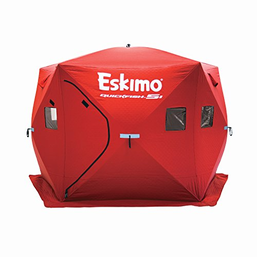 Eskimo 24105 Quickfish 5I Pop-Up Portable Ice Fishing Shelter, 4 Person