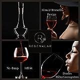 Rebenklar Wein Dekanter Rotwein mit Zubehör [Verfeinerter Weinausgiesser und Dekantierer] 1450 ML Wein-Karaffe wunderschönes Geschenk-Set Premium Decanter für Weinliebhaber Karaffen-Set - 7