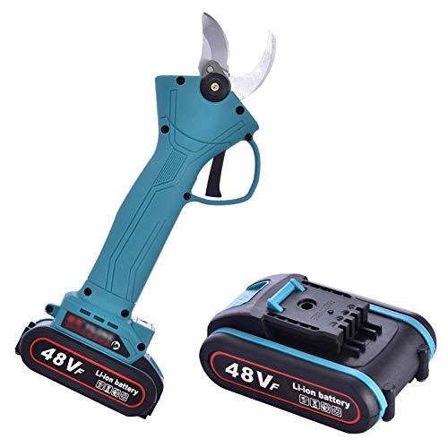 ZQYX Forbici elettriche a Batteria, Potatore Elettrico Professionale Ricaricabile, Potatore per Rami d'albero Ricaricabile a Batteria al Litio 2Ah, 4-6 Ore di Lavoro