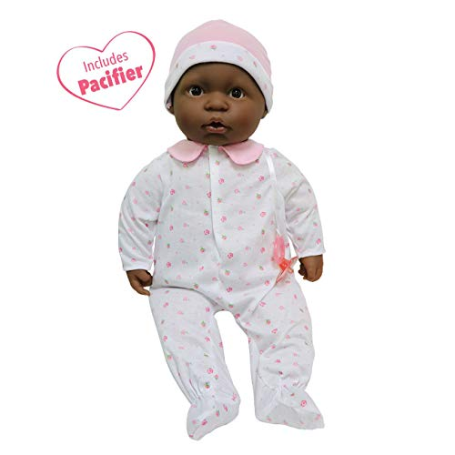 JC Toys, African American La Baby 20-inch Soft Body Pink Play Doll - For Children 2 Years Or Older, Designed by Berenguer