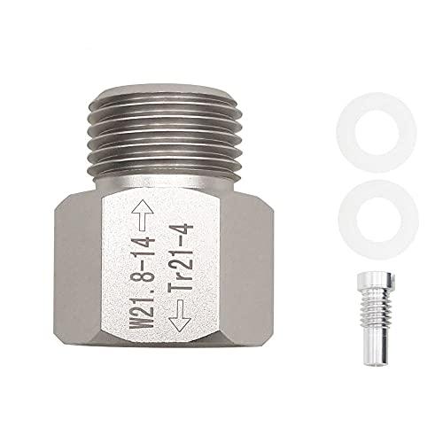 Easyhomie Soda Stream Adapter, Selbst Gemachter Bier Fass Regler, Aquariumzylinder, Druckventilanschluss, TR21-4 bis W21.8