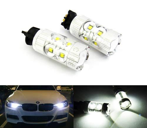 RZG PW24W PWY24W Lot de 2 ampoules LED 50 W pour feux de position, feux de circulation diurnes DRL pour A3 A4 F30 F34 C4 208 Golf