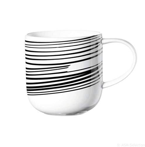 ASA 19105/014 Coppa Henkelbecher Streifen, schwarz/weiß