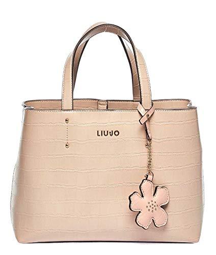 Luxury Fashion | Liu Jo Dames NA0052E008451308 Roze Leer Handtassen | Lente-zomer 20