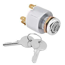 Commutateur d'allumage, 12V Universal Car Auto 4 Position ON OFF Start Contacteur d'Allumage avec 2 clés Interrupteur de…
