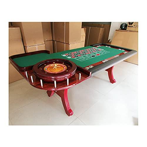 JLFFYJ Mesa de Póquer/Casino Portátil Mesa Giratoria de Póquer para Eventos con Portavasos, Lujosa Mesa de Ruleta Rusa, Entretenimiento Actividades de Bacará de Texas Hold