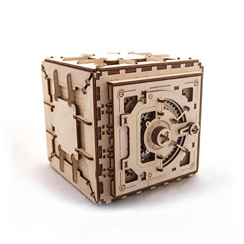 木製 立体パズル ダイヤルロック式 金庫型 立体模型 子供から大人まで 楽しく 作れる 接着剤なしで 組立て可能 3Dパズル