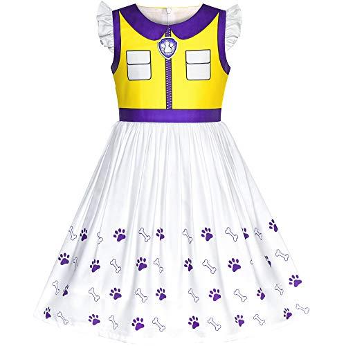 Sunny Fashion Vestido para nia Patrulla de la Pata Apolo Cosplay Fiesta 7 aos