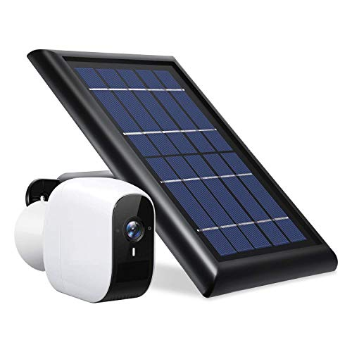 Wasserstein Solar Panel Compatible with eufyCam E Wireless Security Camera - Power Your eufyCam Surveillance Camera Continuously (Black)