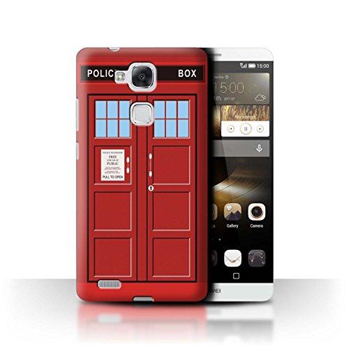 Hülle Für Huawei Ascend Mate7 Tardis Handyzelle Kunst Rot Design Transparent Ultra Dünn Klar Hart Schutz Handyhülle Hülle