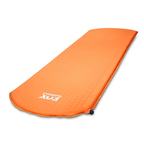 Fox Outfitters Lightweight Series Self Inflating Camp Pad - Perfect Foam Sleeping Pads for Camping, Backpacking, Hiking, Hammocks, Tents (Regular)