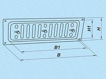 Edelstahl L/üftungsgitter Wetterschutzgitter Abluftgitter manuell verschlie/ßbar Gr/ö/ße 260x90mm