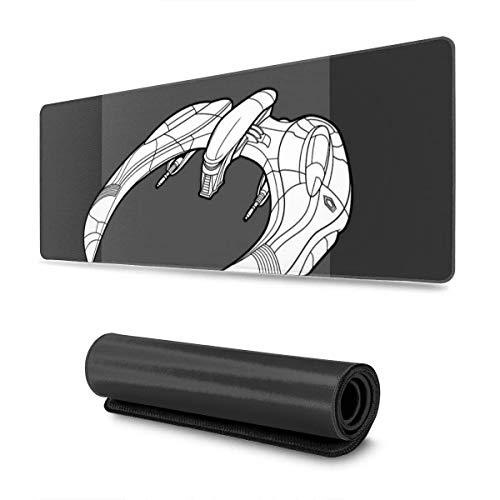 Mausemat Battlestar Galactica Cylon Raider Service- Und Reparaturhandbuch 30X80Cm Gummi Anime Mouse Pad Benutzerdefinierte Computer Gedruckt Mousepad Büro Schreibtisch Laptop Groß