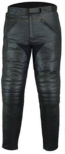 Bikers Gear Australia Premium Pantaloni moto in pelle morbida, LT1004, Nero, 52/4XL EU (42S UK)