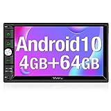 "Vanku Android 10, 4GB + 64GB Radio 2 DIN, PX5 Autoradio GPS con Qualcomm BT 5.0, Navegador, Soporta Control Volante, WiFi, USB, SD, Mirror-Link, 4G, con 7"" Pantalla Táctil"