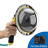 AFAITH Dome Port per GoPro Hero8 Black, Custodia impermeabile 6 pollici con galleggiante Impugnatura compatibile con Hero 8