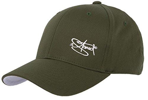 2Stoned Flexfit Cap Wooly Combed Olive mit Stick, Größe XXL (62 cm - 65 cm), Basecap für Herren