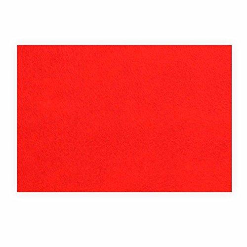 Preisvergleich Produktbild Filz zum basteln selbstklebend A4 rot Klebefilz farbig - Weich und Wasserabweisend,  Filzplatten Selbstklebend Filzgleiter für DIY-Basteln