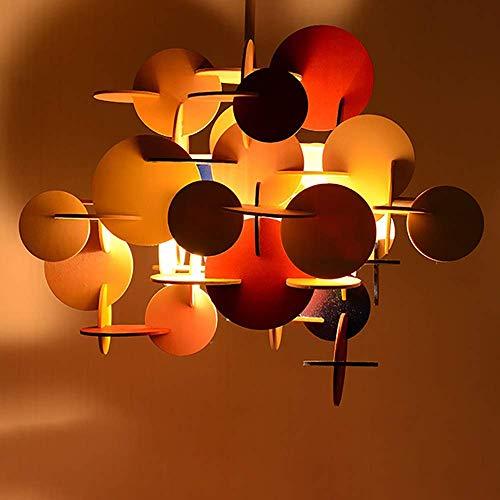 LEBBD Bunte Parkett Kronleuchter Kinderzimmer Schlafzimmer Kronleuchter Kreative Mode Persönlichkeit Holz Dekoration Deckenleuchte Gemütliche Sieben Farben