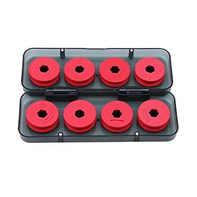 Yinew Red Foam Winding Board Fishing Line Shaft Bobbin Spools Tackle Box Gear by Yinew