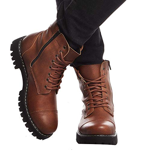 Leif Nelson Herren Schuhe Klassische Stiefel Freizeitschuhe Boots Elegante Winterschuhe Männer Sneakers LN156; 42,Camel