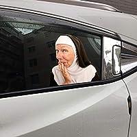車の窓のステッカー面白い窓、簡単な取り外しは車のホームウィンドウ、壁、庭の庭の看板の残留ステッカーを残しません