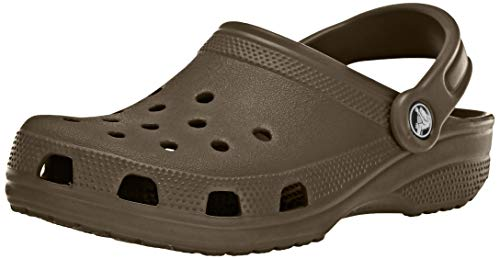 crocs Unisex-Erwachsene Classic Clogs, Brown, 45/46 EU