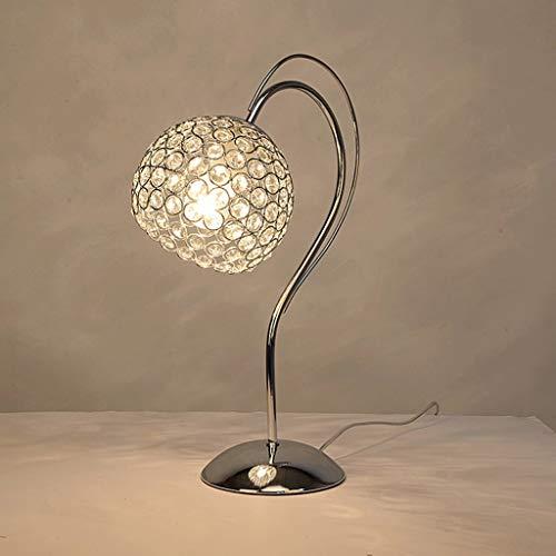 love Chandelier WOOE Lámpara de mesa moderna de cristal decoración del hogar lámpara de mesita de noche lámpara de mesa moderna simple creativa de regalo de moda E27 [Clase de energía A ++] (Color: i